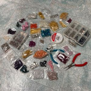 Bundle of jewelry making supplies
